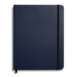 Shinola Journal, HardLinen, Grid, Navy (7x9)