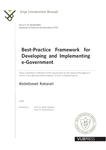 Best-Practice Framework for Developing and Implementing e-Government