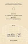 Reports of Judgments and Decisions / Recueil des arrets et decisions vol. 2012-II