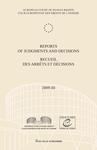 Reports of Judgments and Decisions / Recueil des arrets et decisions vol. 2009-III