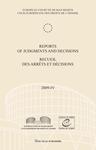 Reports of Judgments and Decisions / Recueil des arrets et decisions vol. 2009-IV