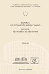 Reports of Judgments and Decisions / Recueil des arrets et decisions vol. 2012-III