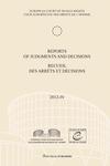 Reports of Judgments and Decisions / Recueil des arrets et decisions vol. 2012-IV