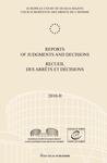 Reports of Judgments and Decisions / Recueil des arrets et decisions vol. 2010-II