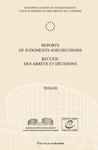 Reports of Judgments and Decisions / Recueil des arrets et decisions vol. 2010-III