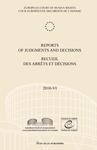 Reports of Judgments and Decisions / Recueil des arrets et decisions vol. 2010-VI