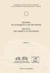 Reports of Judgments and Decisions / Recueil des arrets et decisions vol. 2012-V