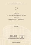 Reports of Judgments and Decisions / Recueil des arrets et decisions vol. 2012-VI