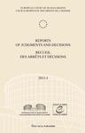 Reports of Judgments and Decisions / Recueil des arrets et decisions vol. 2011-I