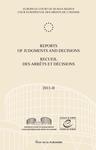 Reports of Judgments and Decisions / Recueil des arrets et decisions vol. 2011-II