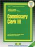 Commissary Clerk III