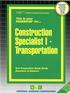 Construction Specialist I - Transportation