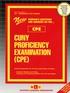 CUNY Proficiency Examination (CPE)