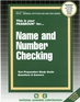 NAME AND NUMBER CHECKING