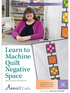 Learn to Machine Quilt Negative Space DVD