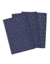 Heko Lined/Plain/Dot Grid Cahiers 3 pack - Navy Medium